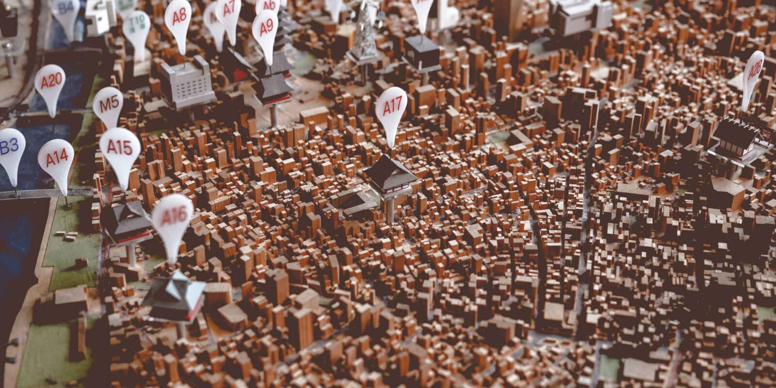 3D map with pins